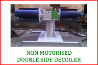 NON MOTORIZED DOUBLE SIDE DECOILER